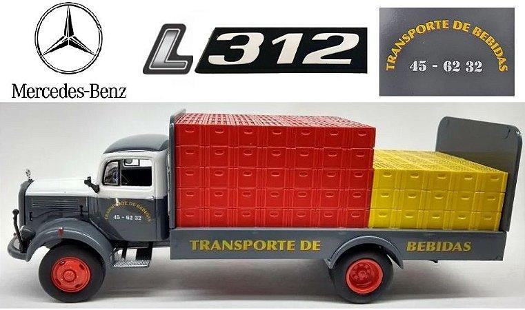 Ixo - Caminhão Mercedes-Benz L312 1956 - Transporte de Bebidas - 1/43