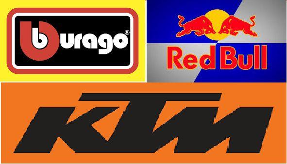 Burago - Motos Red Bull KTM Factory Cross Variadas - 1/18