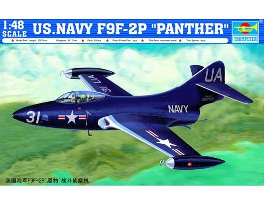 """TRUMPETER - US.NAVY F9F-2P """"PANTHER"""" - 1/48"""