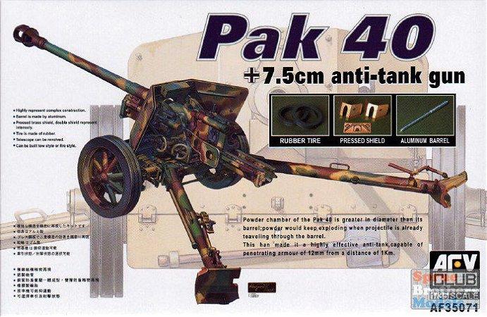 AFV CLUB - GERMAN PAK 40 7,5CM ANTI-TANK GUN - 1/35