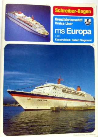 Schreiber-Bogen - MS Europa - 1/200