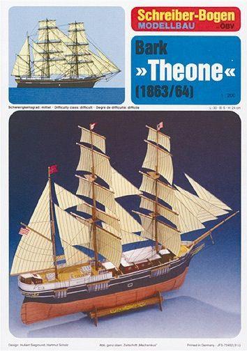 """Schreiber-Bogen - Bark """"Theone"""" 1863/64 - 1/100"""