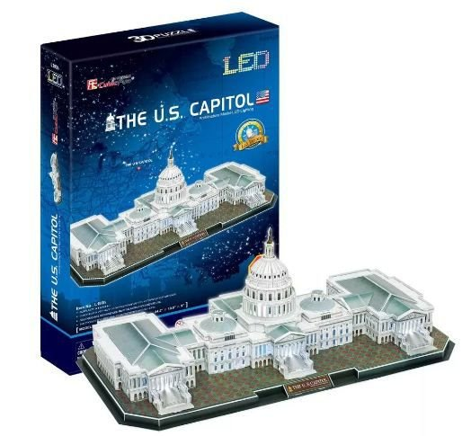 CubicFun - The U.S. Capitol com LED - Puzzle 3D