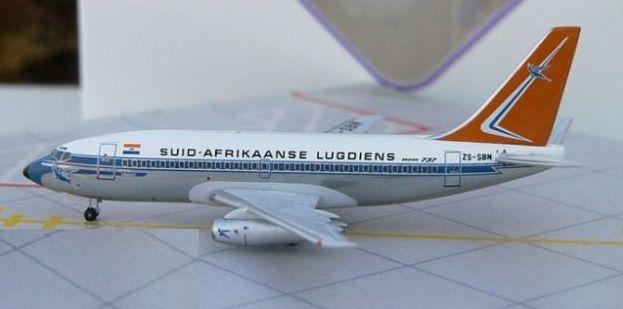 """Aero Classics - Boeing 737-200 """"South African Airways/Suid Afrikaanse Lugdiens"""" - 1/400"""