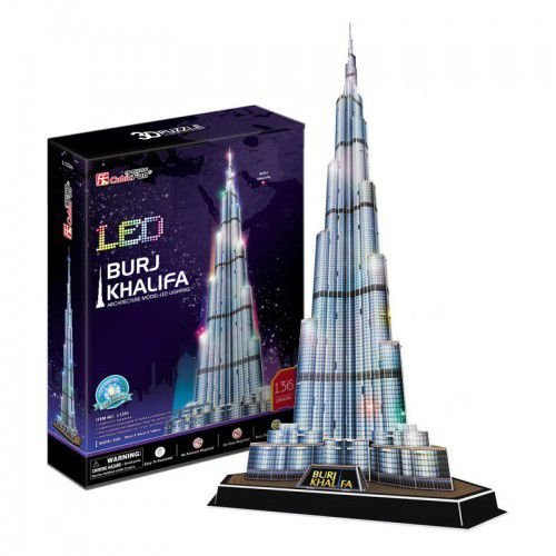 CubicFun - Burj Khalifa com LED - Puzzle 3D