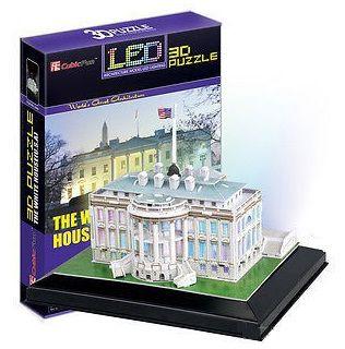 CubicFun - The White House com LED - Puzzle 3D