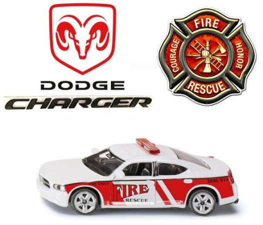 Siku - Dodge Charger Fire Rescue (Corpo de Bombeiros) - 1/55