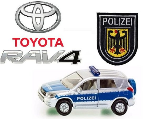 Siku - Toyota RAV4 Polizei (Polícia Alemã) - 1/55