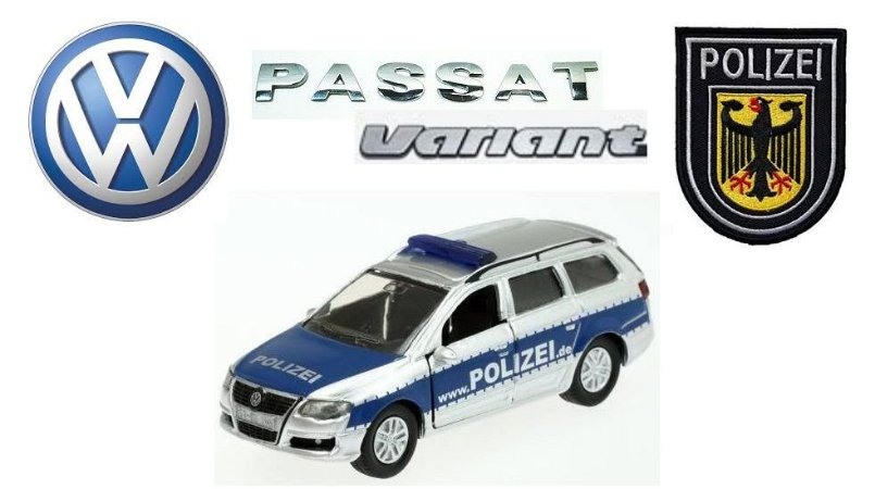 Siku - Volkswagen Passat Variant Polizei (Polícia Alemã) - 1/55