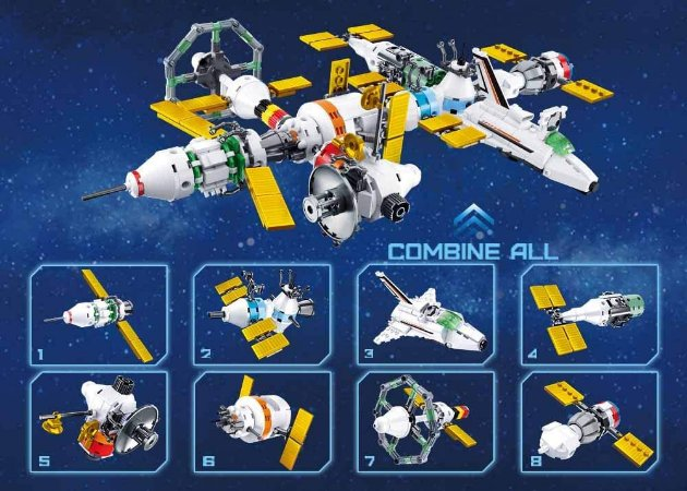 Sluban - Space Station Collection 8 to 1