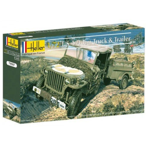 HELLER - JEEP WILLYS US 1/4 TON - 1/72
