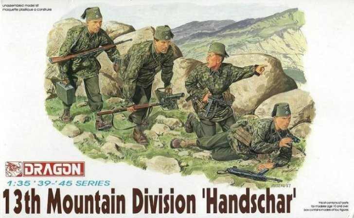 DRAGON - 13TH MOUNTAIN DIVISION 'HANDSCHAR' ('39~'45) - 1/35