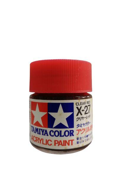 Tamiya - Acrylic X-27 - Clear Red