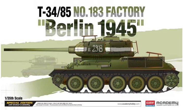 "Academy T-34/85 Nº.183 Factory ""Berlin 1945"" - 1/35"
