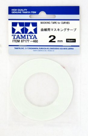 TAMIYA - MASKING TAPE FOR CURVES 2MM - MÁSCARA PARA CURVAS