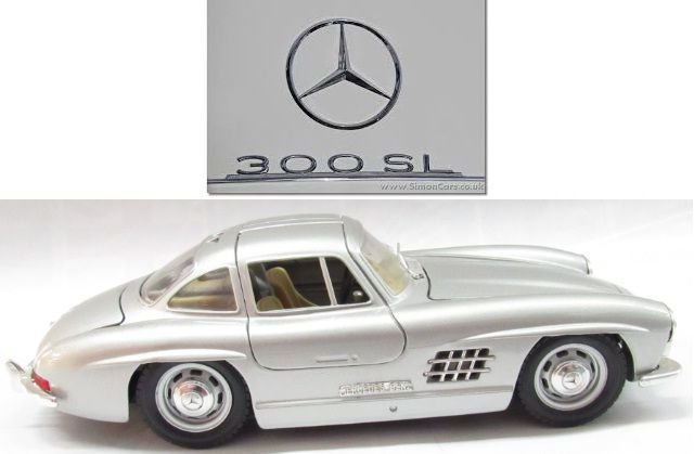 Burago - Mercedes-Benz 300 SL 1954 (sem caixa) - 1/24