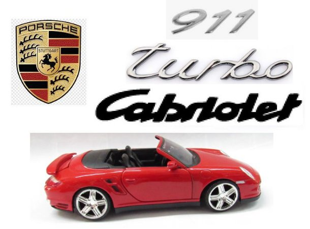 Motor Max - Porsche 911 Turbo Cabriolet (sem caixa)- 1/24