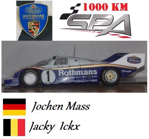 Quartzo - Porsche 956 Short Tail 1000 Km de Spa 1983 - 1/43