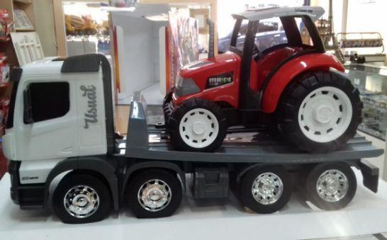 Usual Brinquedos - Caminhão Huracán Plataforma com Trator