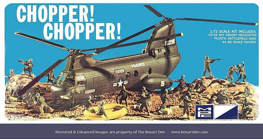 MPC - CHOPPER! CHOPPER! CH-46 SKY KNIGHT - 1/72