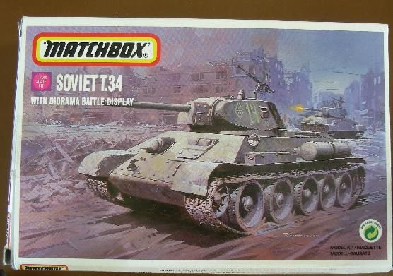 MATCHBOX - T-34 WITH DIORAMA - 1/76