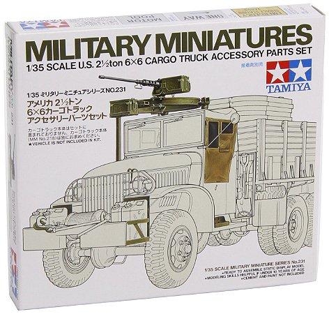 TAMIYA - U.S. 2 1/2ton 6x6 Cargo Truck Accessory Parts Set - 1/35