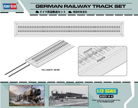 HOBBY BOSS - GERMAN RAILROAD TRACK SET - 1/72