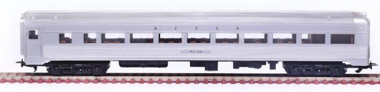 Frateschi - Vagão de Passageiros Cauda de Aço Inox RFFSA - HO