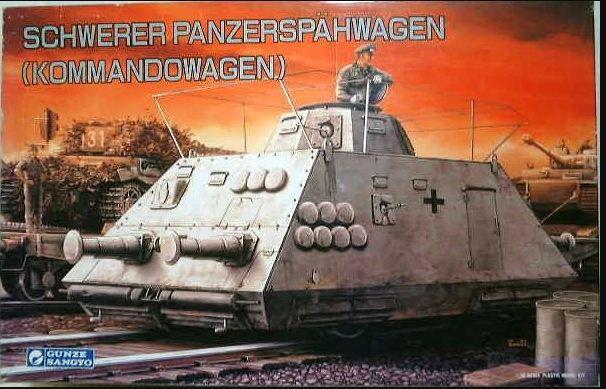 Gunze Sangyo - Schwerer Panzerspähwagen (Kommandowagen) - 1/35