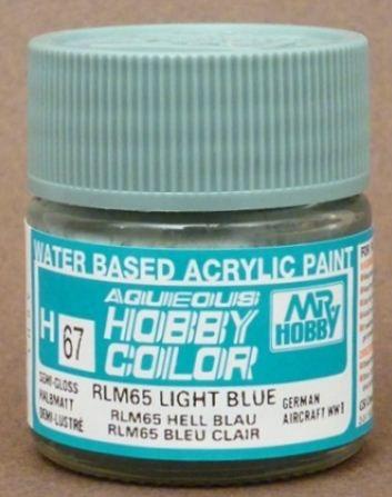 Gunze - Aqueous Hobby Colors H067 - RLM65 Light Blue (Semi-Gloss)
