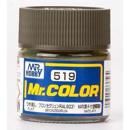 Gunze - Mr.Color 519 - Bronze Green / Bronzegrün (Flat)
