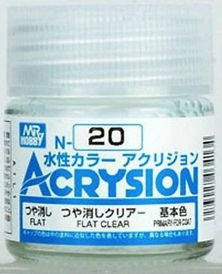 Gunze - Acrysion  N020 - Flat Clear