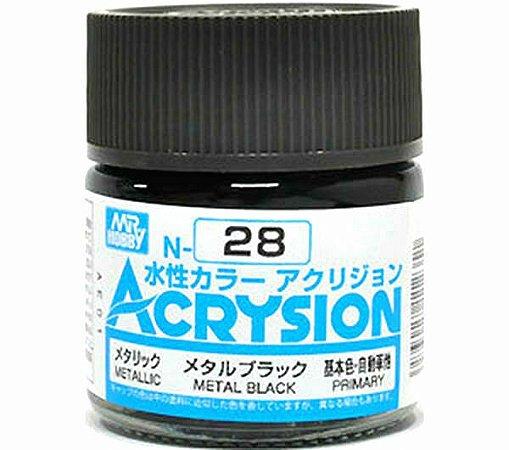 Gunze - Acrysion  N028 - Metal Black (Metallic)