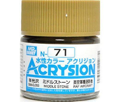 Gunze - Acrysion  N071 - Middle Stone (Semi-Gloss)