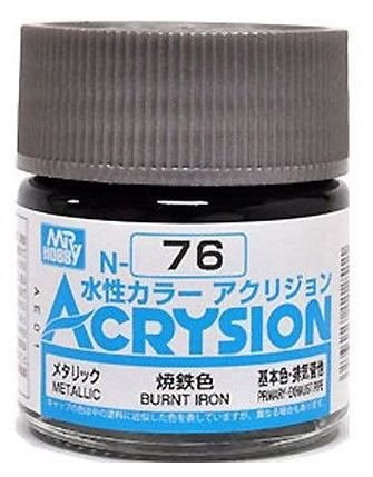 Gunze - Acrysion  N076 - Burnt Iron (Metallic)