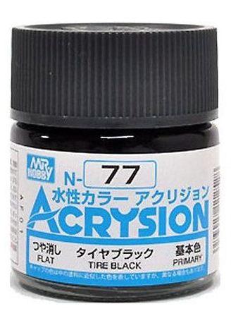 Gunze - Acrysion  N077 - Tire Black (Flat)