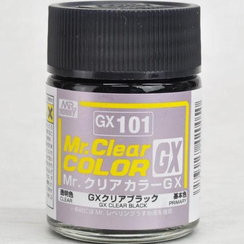 Gunze - Mr.Clear Color GX101 - Clear Black (Verniz Preto)