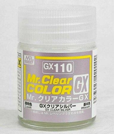 Gunze - Mr.Clear Color GX110 - Clear Silver (Verniz Prata)