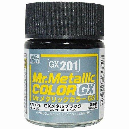 Gunze - Mr.Metallic Color GX201 - Metal Black