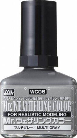 Gunze - Mr. Weathering Color WC06 - Multi Gray (Wash com base Óleo) - 40ml