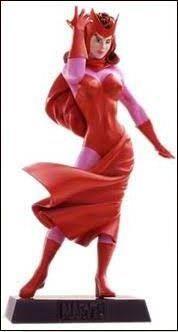Eaglemoss - Feiticeira Escarlate (Scarlet Witch) - Figura em Metal