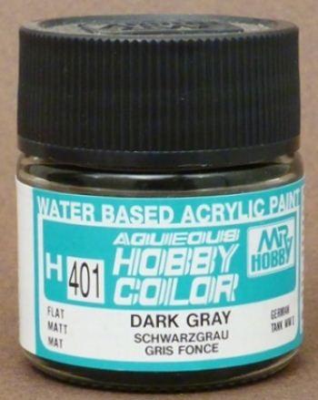 Gunze - Aqueous Hobby Colors H401 - Dark Gray (Flat)