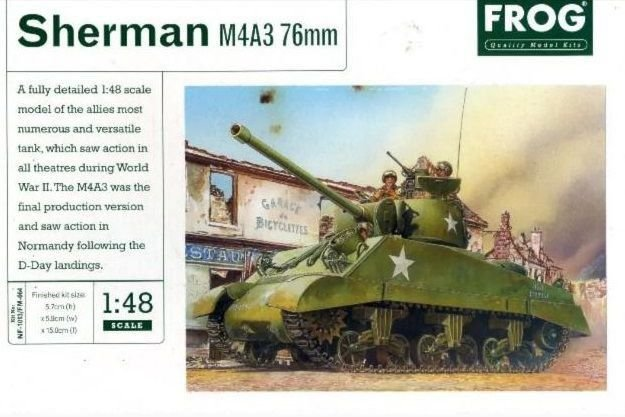 Frog - Sherman M4A3 76mm - 1/48 (Sucata)