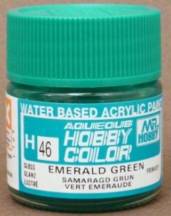 Gunze - Aqueous Hobby Colors H046 - Emerald Green (Gloss)