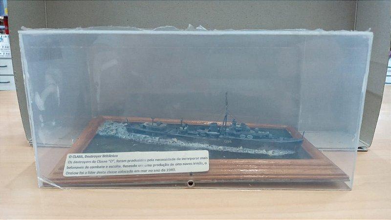 Diorama - Destroyer Britânico Classe O - Pequeno Defeito: Base Irregular
