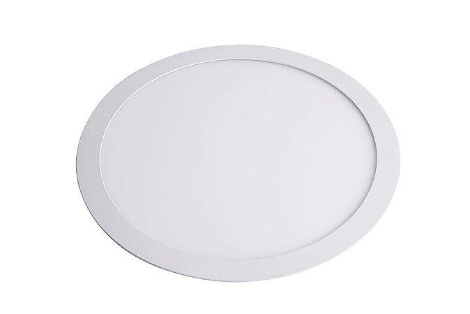 Luminária/Painel de Embutir LED Slim Redonda 24W 3000K  - Startec