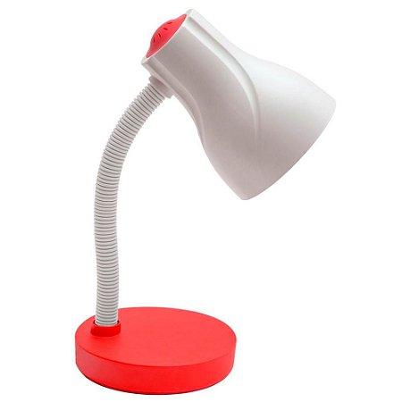 Luminária de Mesa Escritório Spiralle Vermelho - Startec
