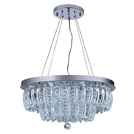 Lustre/Pendente de Cristal Legítimo LED Ingrid 36W 6500K Startec - Design Moderno Quarto/Sala Jantar