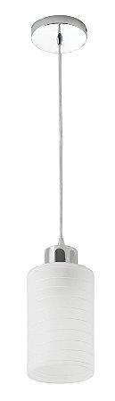 Pendente/Luminária Track em Vidro Leitoso 1xE27 - Startec