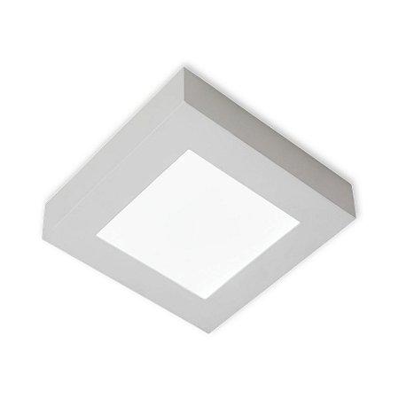 Luminária/Plafon Sobrepor LED Quadra 12W 3000K  - Startec